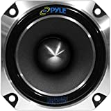"1"" Car Audio Speaker Tweeter - 300 Watt High Power 1 Inch Super Titanium Tweeter System with Die Cast Aluminum Frame, 2kHz - 20 kHz Frequency, 104 dB, 4-8 Ohm, Heavy Duty 30 oz Magnet - Pyle PDBT28, Black, 5in. x 5in. x 4in."