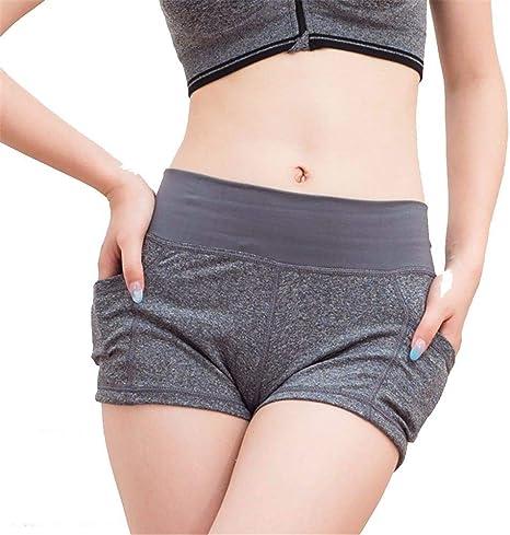 QINB Pantalones Cortos de Yoga para Mujer/Deportes de Secado ...