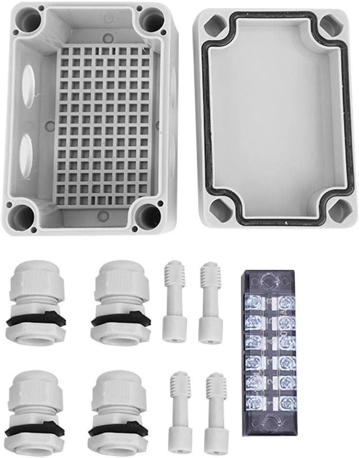 ABS en Plastique /étanche Ip65 Bo/îtier de Projet /électrique Bo/îte /électrique /Étanche Bo/îte de jonction Connexion des Fils Bo/îte de jonction Bo/îtier en Plastique 65 x 95 x 55 Bo/îte de jonction