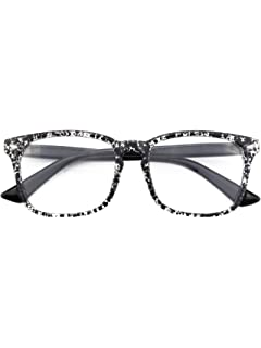 07318d9d862d Glasses Queen 201582 Large Oversized Frame Horn Rimmed Clear Lens Glasses