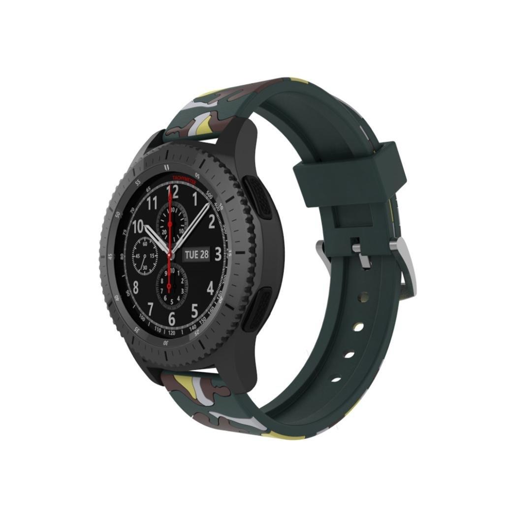 For Samsung Gear s3クラシック/ Frontier Watchバンド幅Easy Fitソフトシリコン迷彩スポーツ時計バンド Multicolor C Multicolor C B079JD1PPR