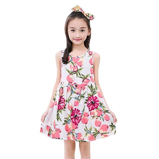 Beikoard Niña Vestido Liquidación, Ropa para niñas Niño niña Bebe niña Impresion Floral Vestido de