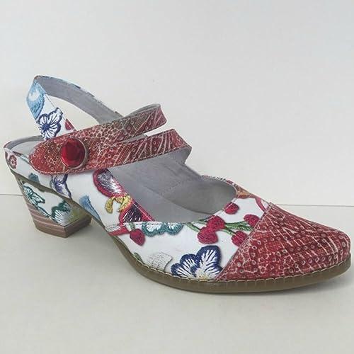 92e7b1156e4 Laura Vita Donjon 03 Multi Floral Mid Heels Rouge UK 7.5  Amazon.co ...