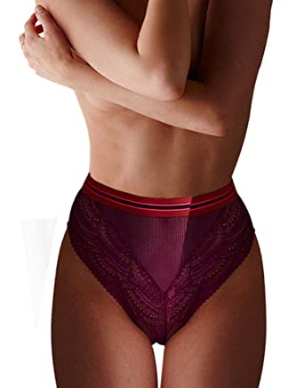 01aca8ff0e8d Victoria's Secret Very Sexy Banded High-Waist Cheeky Panty Purple Small at  Amazon Women's Clothing store: