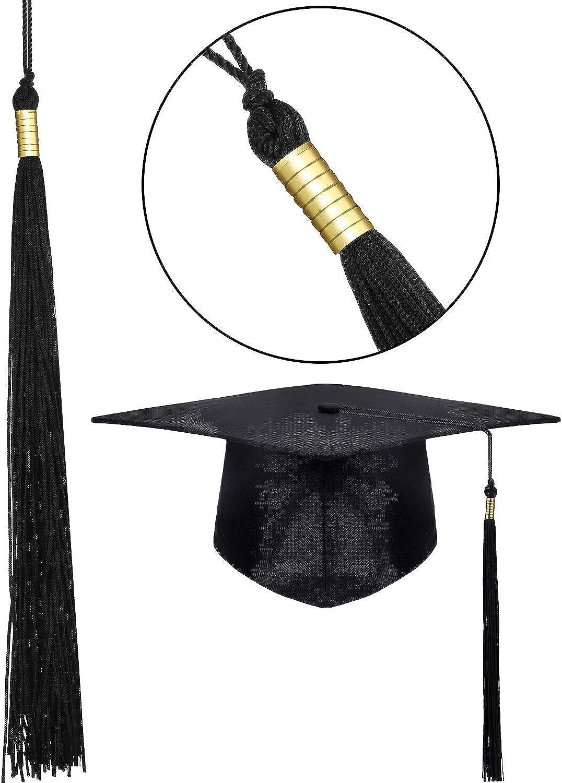 SATINIOR 2 Pezzi Unisex Cappello di Laurea Cappello di Laurea Festa per Adulto con Nappa per Accessorio di Abiti da Laurea