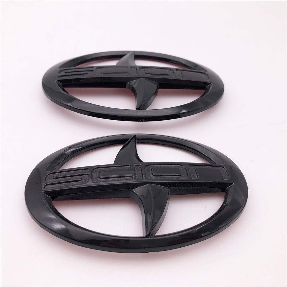 Forten Kingdom 2PCS Set Glossy Black for 2012-2016 GT86 Scion FR-S Car Front and Rear Trunk Hood Emblem Badge Decal