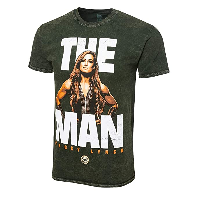 6e344a050 Amazon.com: WWE Authentic Wear Becky Lynch The Man Mineral Wash T ...