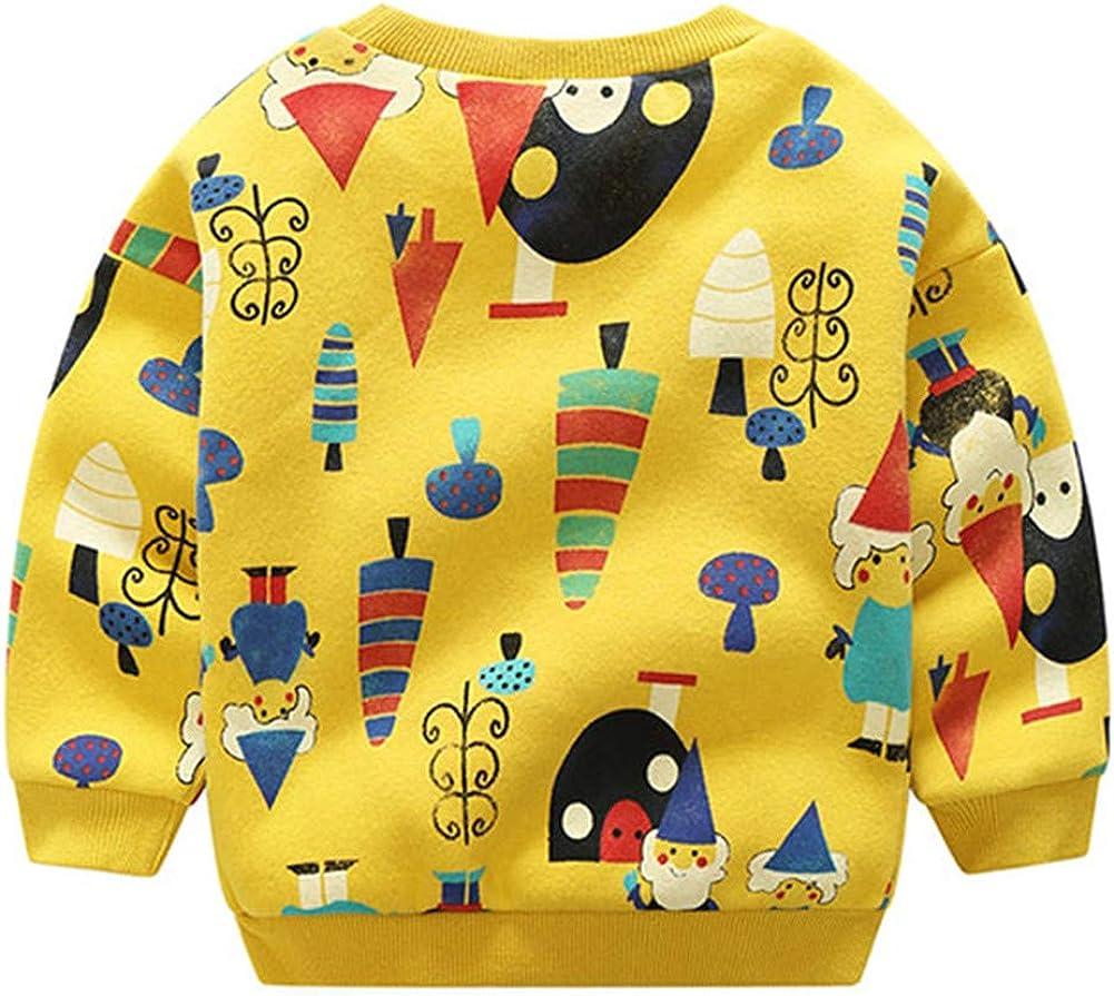 Mud Kingdom Little Boys Sweatshirt Cute Christmas Thermal