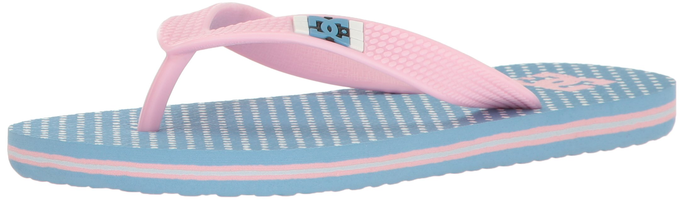 DC Boys' Spray Graffik Flip Flop, Blue/Pink, 2 M US Little Kid