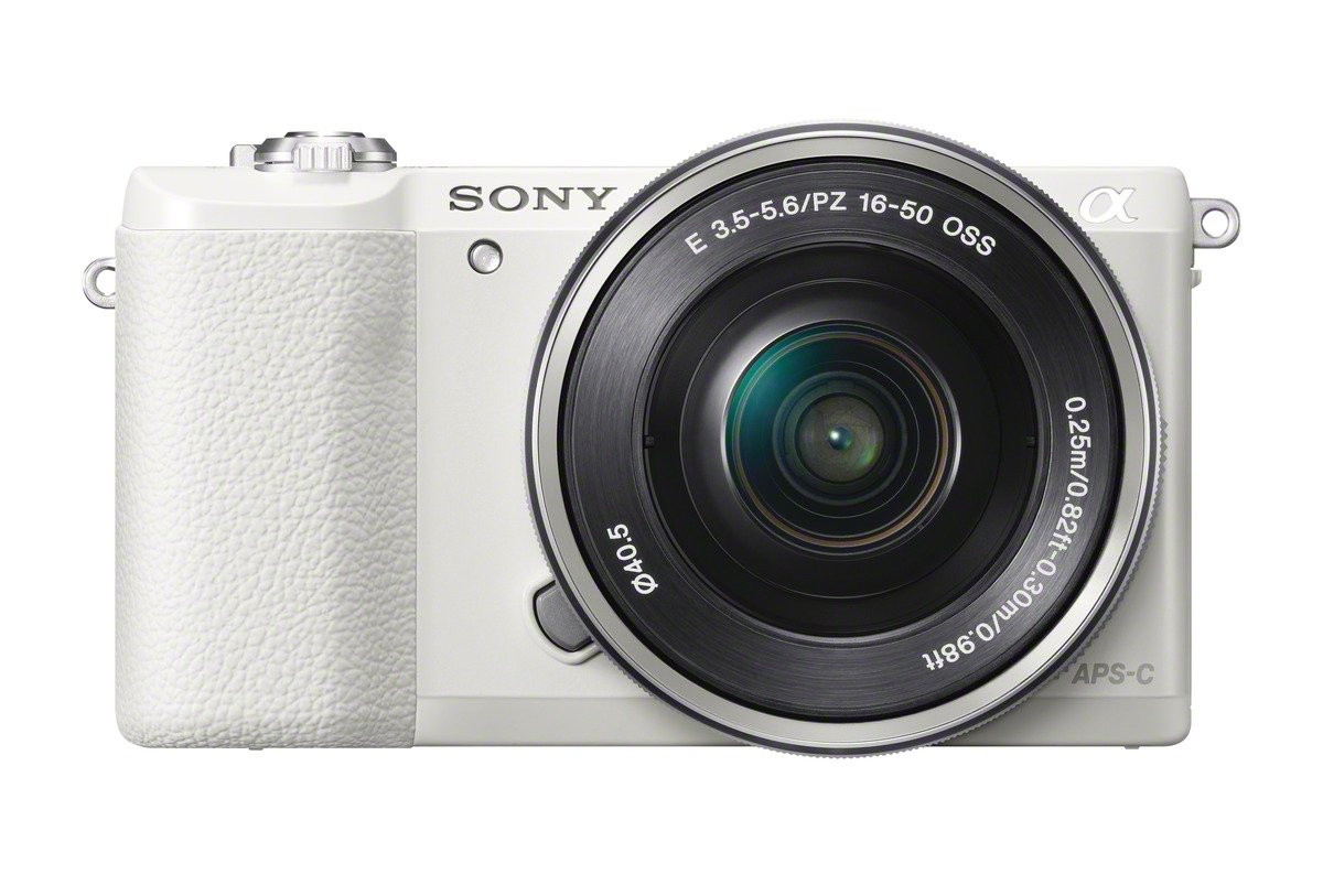 Sony a5100 16-50mm Mirrorless Digital Camera with 3-Inch Flip Up LCD (White) by Sony