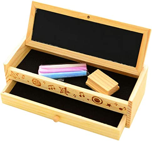 Lfhing - Estuche de Madera con 2 Capas para lápices y bolígrafos, Color Negro: Amazon.es: Hogar