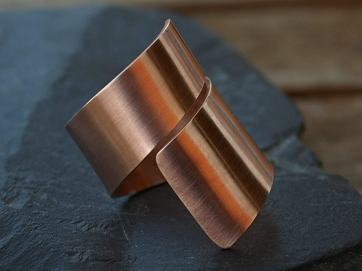 Spiralring Bronze glatt