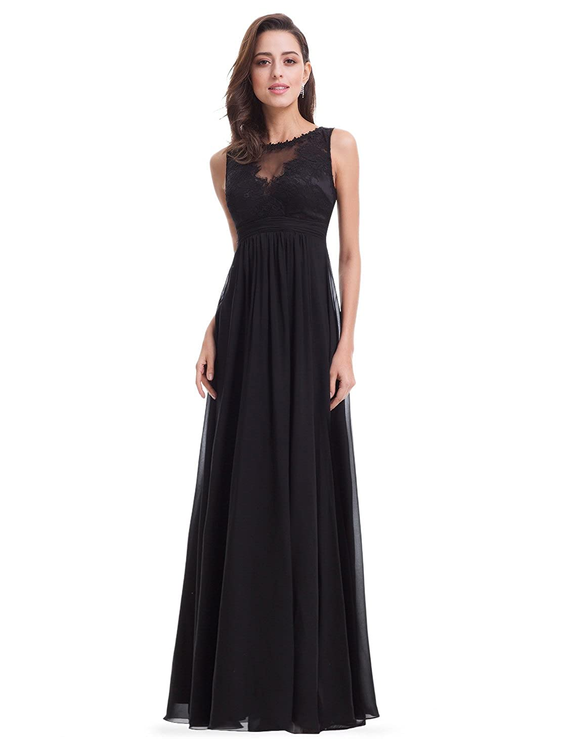 Ever-Pretty Womens Elegant Round Neck Long Evening Dress 08715 at Amazon Womens Clothing store: