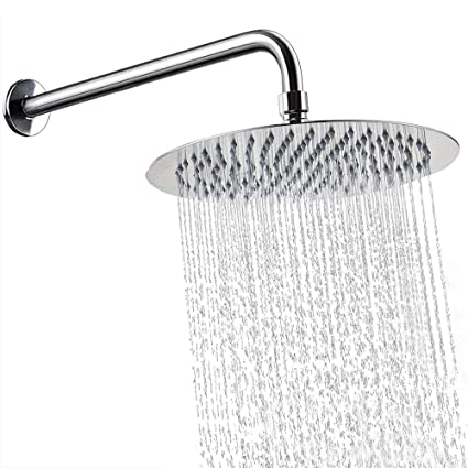 Shower Heads 10 Inch Full Body Waterfall Shower Heads Round High Pressure Rainfall Shower Head Rain Showerheads Bathroom Fixtures