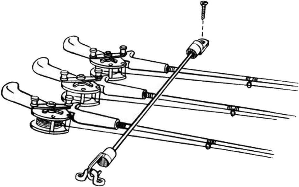 Montage sur Pont T TOOYFUL 1 Set Canne /à P/êche pour Bateau Marin Tamer//Strap Hold Strap 9.1