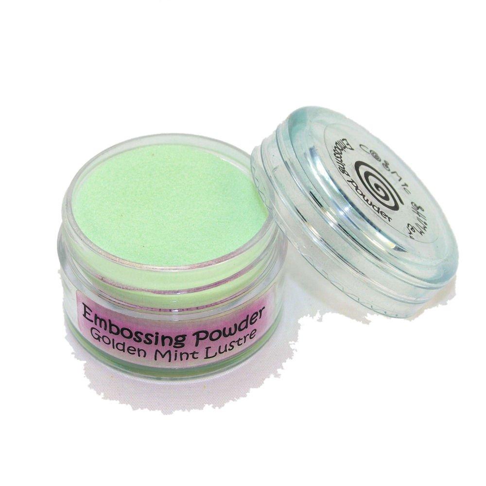 Cosmic Shimmer Lustre Embossing Powder, Golden Mint