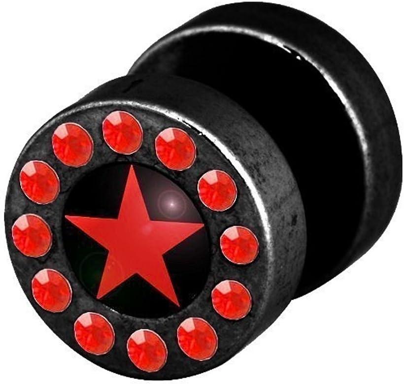 Dilatador Falso Piercing Funky Plug, Pendiente, Estrella Roja Con ...