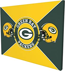 G-re-en Bay Pa-cke-rs Football Team Print Paintings Christmas Wall Art Home Decoration Stretched and Framed Ready to Hang 12x16 Inches