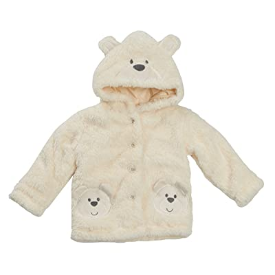 Baby Boy Or Girl Cream Bear Coat Snuggle Fleece Coat Pram Coat 0-3M up to 18-24M