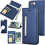 iPhone 7 Plus Case,iPhone 8 Plus Case,Gostyle 2 in 1 Detachable Flip Wallet Case with Credit Card Slots,Work with Magnetic Car Mount,PU Leather Cover for iPhone 7 Plus/8 Plus 5.5 inch,Navy Blue