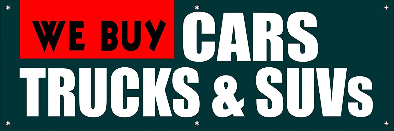 good We Buy Cars, Trucks, & Suvs Vinyl Display Banner with Grommets ...