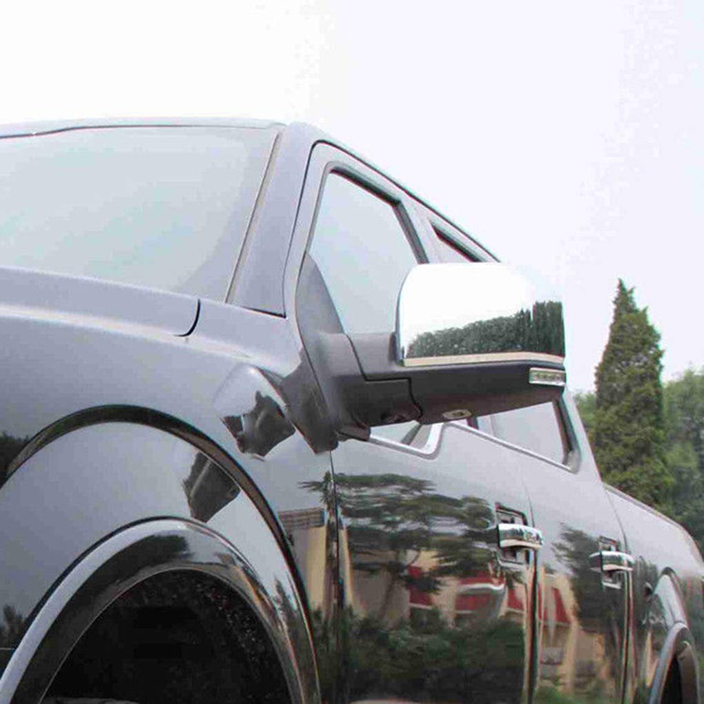 1 Pair Replacement for Replacement F150 2015 Triple ABS Chrome Rearview Mirror Shell Cover Side View Protection Cap by Topker (Image #2)