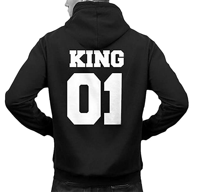 King Hoodies Dabag Pullover Autunno Queen Uomo Donna Coppia YEIeDW2H9