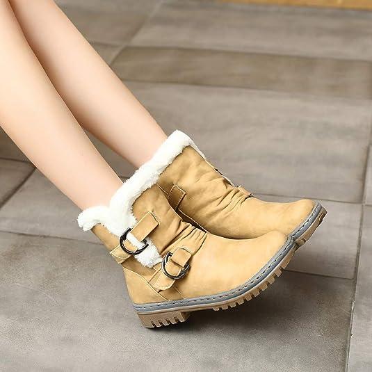 Bota para Mujer,BBestseller Zapatos De Mujer Botines Medias Inglaterra Botas Deporte Scrub Retro Felpa Mantener Caliente Boot Zapatillas Deportes: ...