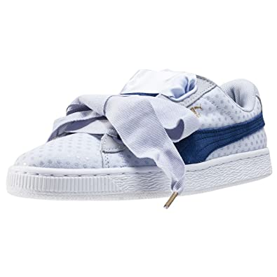 7cf55ee70e9 Puma Basket Heart Denim Womens Trainers Light Purple - 6 UK