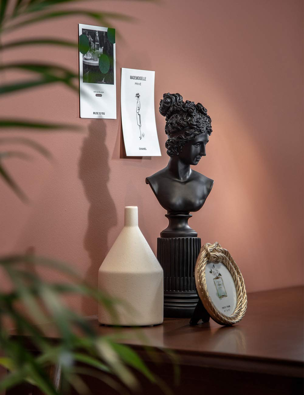 Amoy-Art Statua della libert/à Figurina Scultura Statua Regalo Arte Artigianato Decorazioni Casa Statue of Liberty Figurine Sculpture Resina 36cmH Nero