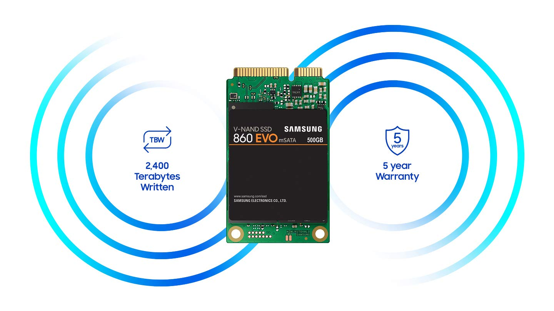 Samsung SSD 860 EVO 1TB mSATA Internal SSD (MZ-M6E1T0BW) by Samsung (Image #6)