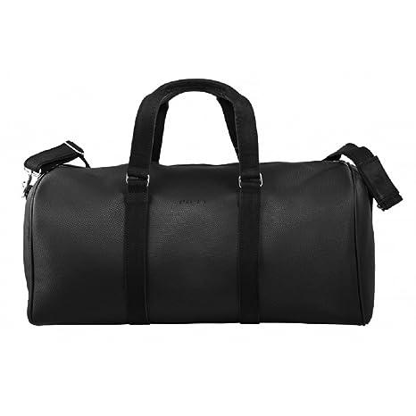 Brodrene hommes en cuir véritable sac de voyage sac à bandoulière week-end sac de sport haut de gamme ML40 (Rouge) 4vBbEu