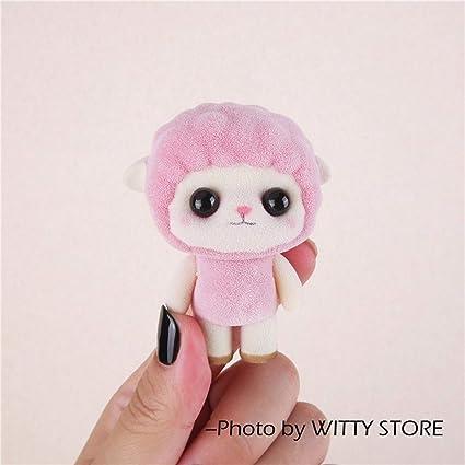 7da7ff62981d Amazon.com  JEWH Super Cute Flocking Doll Toys - Kawaii Mini Cats ...