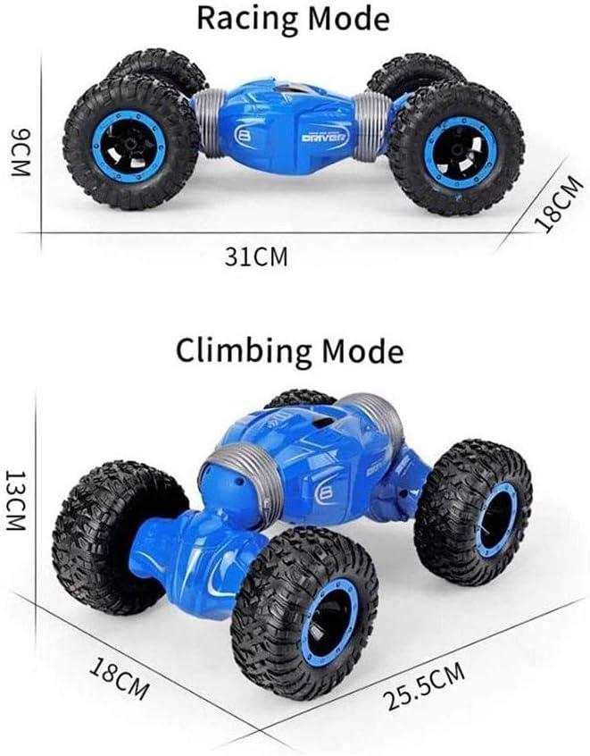 LFLLFLLFL High-Speed-Klettern Auto, Beidseitige Stunt Car Wireless Fernbedienung Auto Geschenke (Color : Blue) Black