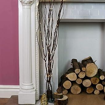 Avec Micro Câbles Lumineuse Brun Branches 87cm Bouquet Cuivrés Led N8nk0PXwO