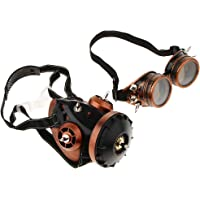Prettyia Gafas Con Máscara De Gas Retro Respirador Steampunk Obras De Arte Material Decorativo