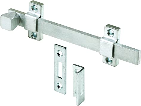 Prime Line Mp4914 Surface Bolt 8 In Steel Brushed Chrome Finish Heavy Duty Construction 1 Set Amazon Com