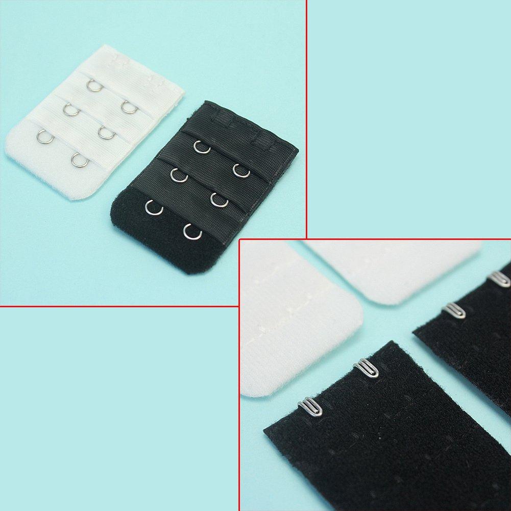 10 St/ücke BH Verl/ängerung Unterw/äsche Erweiterung 5*3.5cm 5x Schwarz 5x Wei/ß
