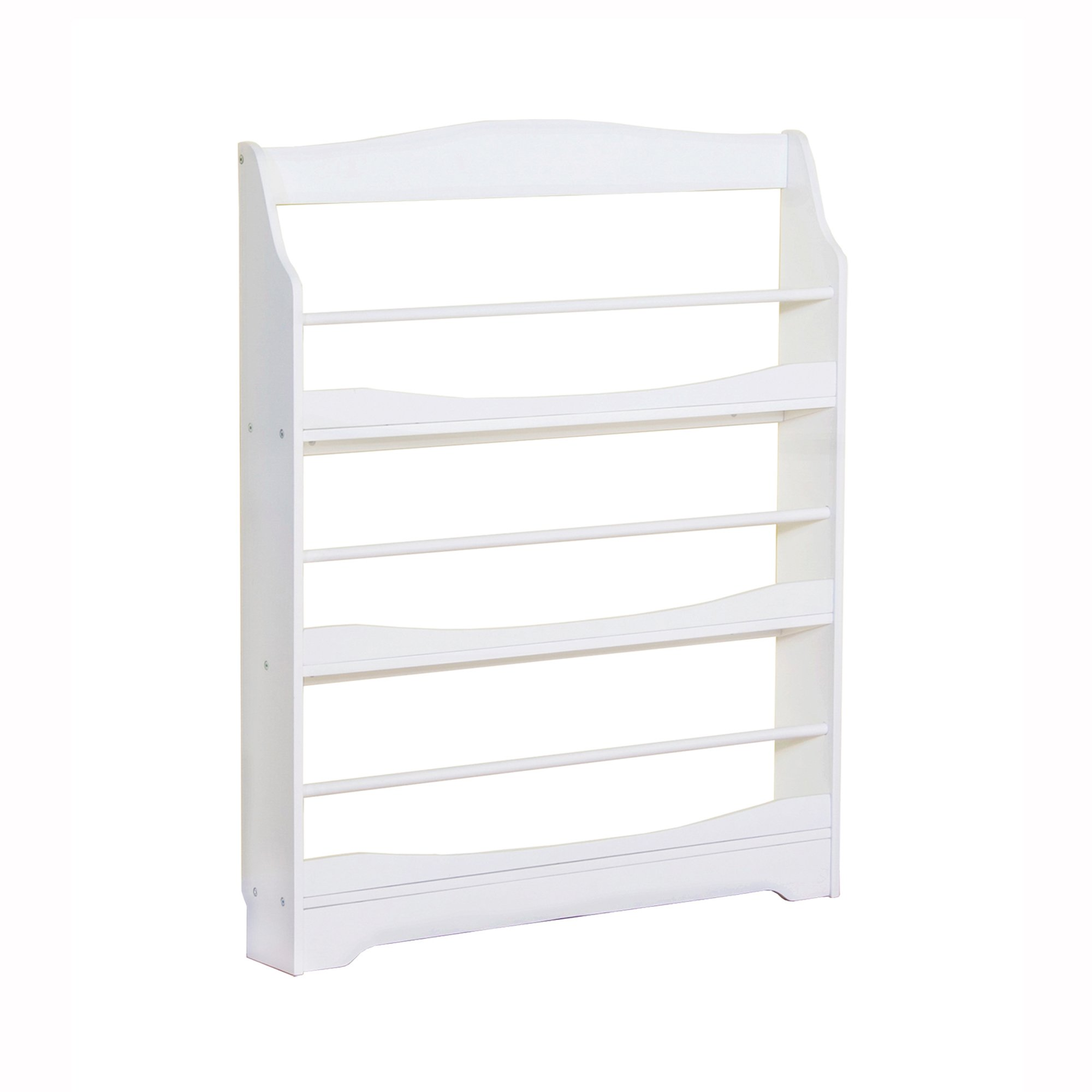 Guidecraft Expressions White Bookrack - Storage Bookshelf Kids School Furniture