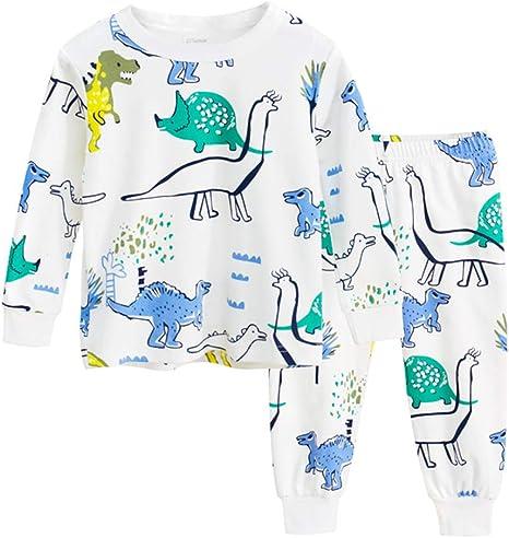 Niños Conjunto de Pijamas Bebés Manga Larga de Tops + Pantalones Algodón Ropa de Dormir 18-24 Meses: Amazon.es: Bebé