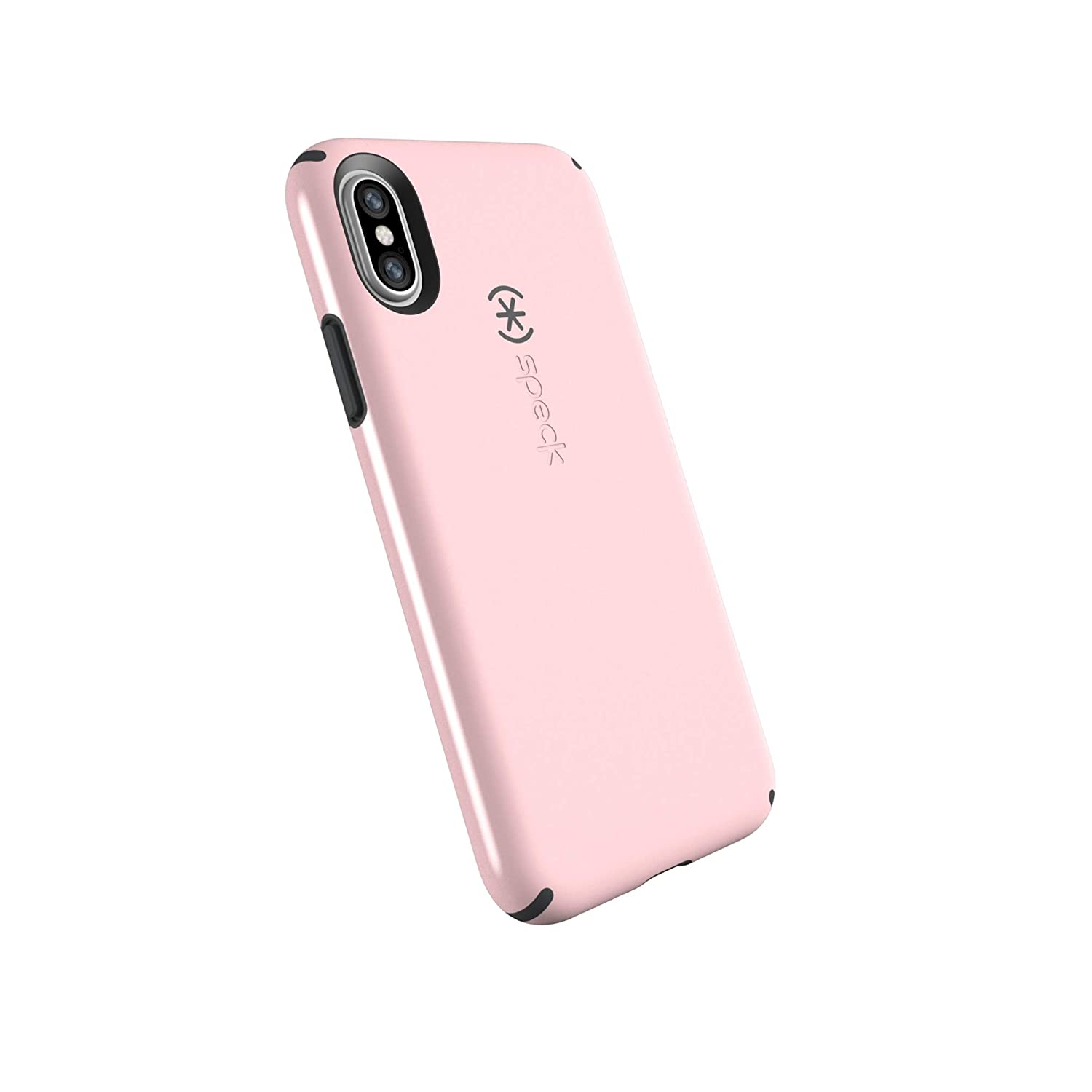 buy popular c4459 7259e Speck Products CandyShell Cell Phone Case for iPhone XS/iPhone X - Quartz  Pink/Slate Grey