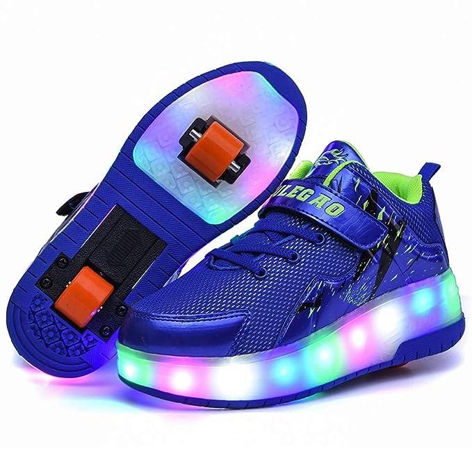 Recollect Unisex Automática de Skate Led Luz Zapatillas con Ruedas Zapatos Patines Deportes Zapatos para Niños/Niñas: Amazon.es: Ropa y accesorios