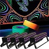 Solena Max Bar 60 UV 60-Watt LED Black Light 4 Pack