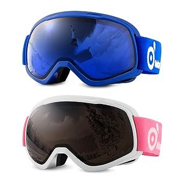 0da368d868b ODOLAND Gafas de esquí con magnético Desmontable Diseño de la Lente - para  el Adulto Hombre
