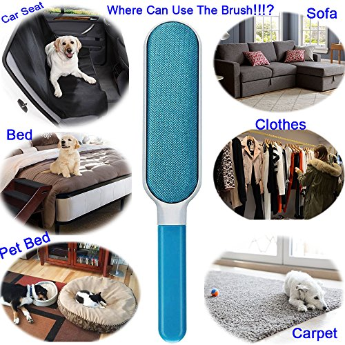 Lint Brush - Pet Hair Remover Brush - Dog & Cat Fur Remover with Self-Cleaning Base - Efficient Double Sided Animal Hair Removal Tool - Perfect for Clothing, Furniture, Couch, Carpet, Car Seat- BONUS by Cambodra (Image #3)