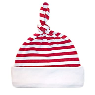 5ca4a4a4a1c29 Amazon.com  Jacqui s Unisex Baby Red and White Striped Knotted Hat ...