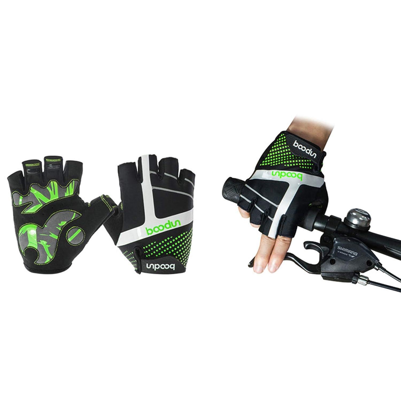 Aokarry Gloves Cycling Motocycle Gloves Microfiber Climbing GlovesGreen Orange