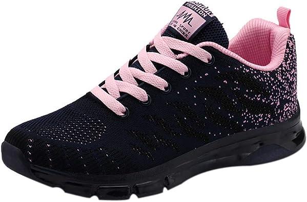 Zapatillas de Running para Mujer Jogging de Primavera Deportes para Caminar Zapatillas de Deporte Ligeras y cómodas Zapatillas de Deporte Transpirables Planas para niñas: Amazon.es: Zapatos y complementos