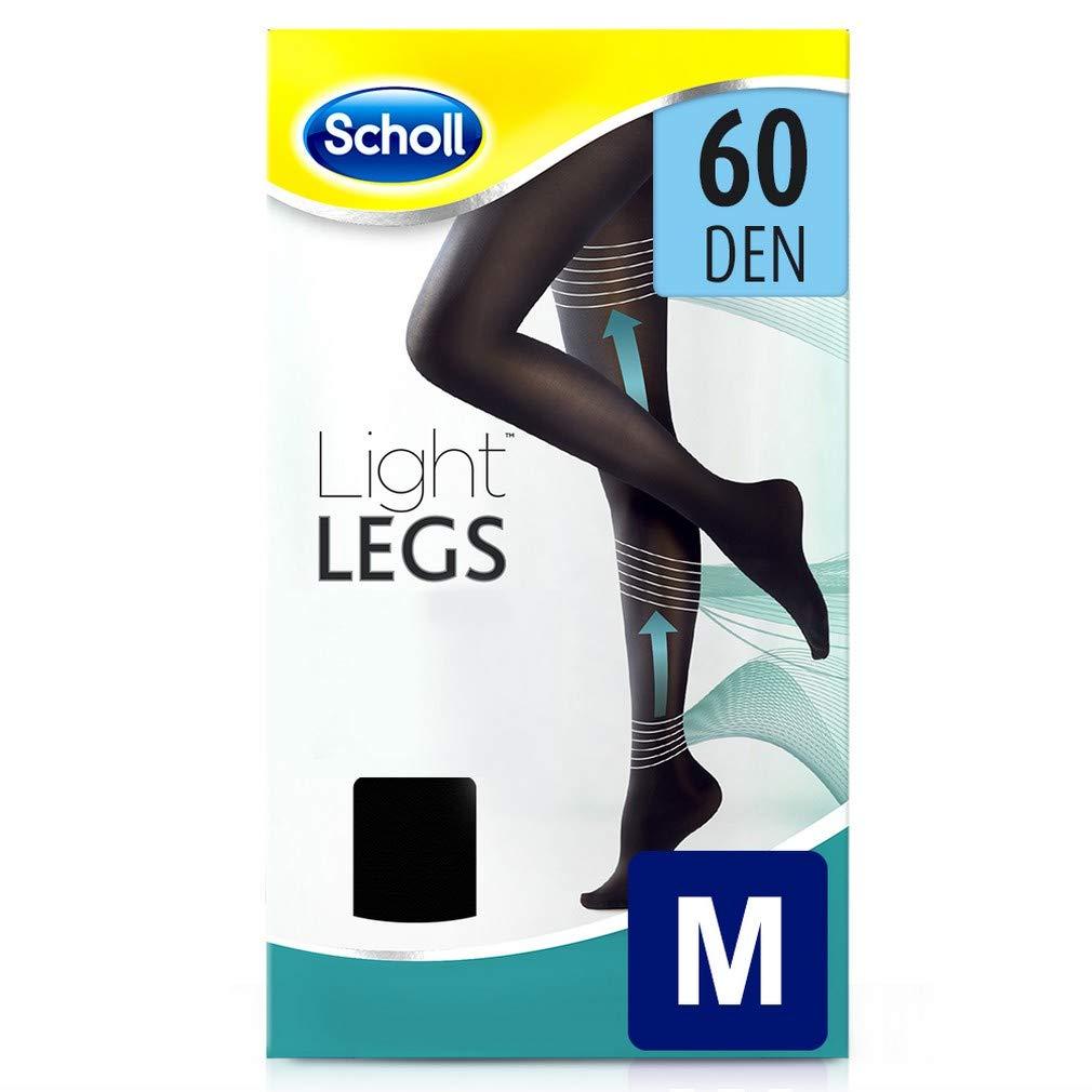 1 Paio Scholl Light Legs Collant Donna Compressione Graduata 60 Den M Nero