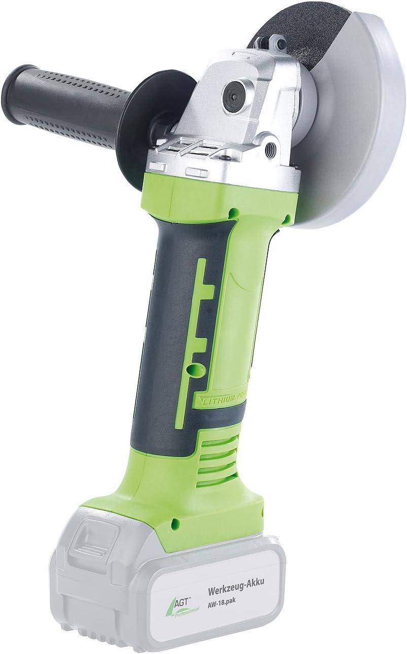 Werkzeuge ohne Akku AGT Professional Akku Trennschleifer: Winkelschleifer AW-18.ws f/ür 18-V-Akkus